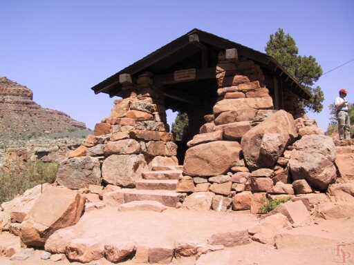 Grand Canyon, 3 Mile Resthouse, Bright Angel Trail