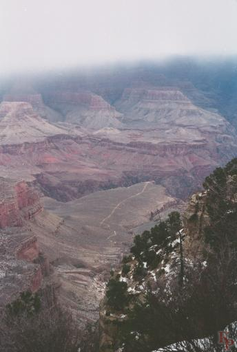 Grand Canyon, View to Plateau Point, Indian Gardens
